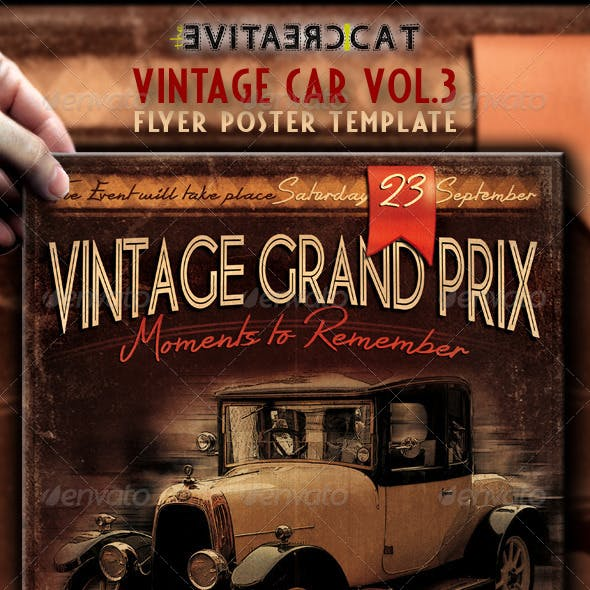 Vintage Car Flyer/Poster Vol.3