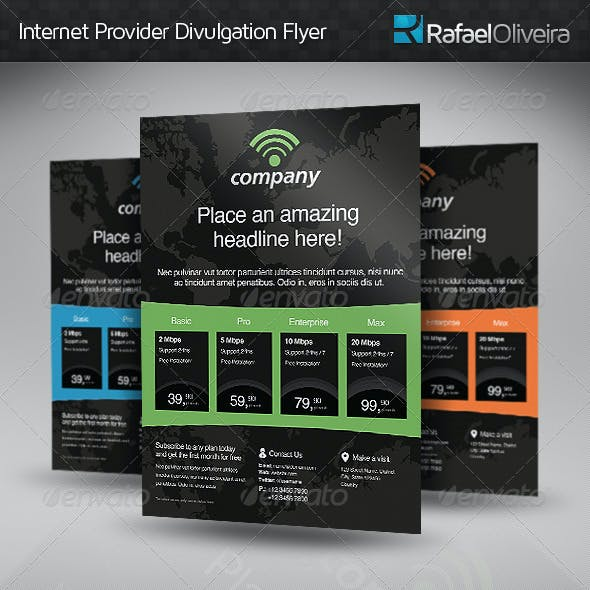 Internet Provider Divulgation Flyer