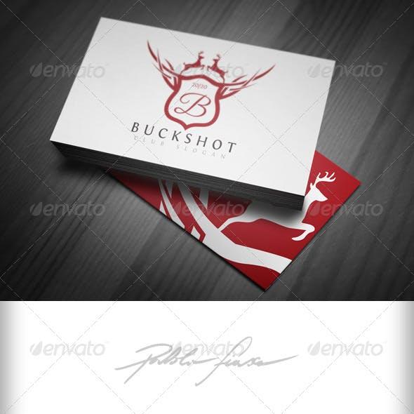 Hunting Club - Reindeer Crest Royal Letter B Logo