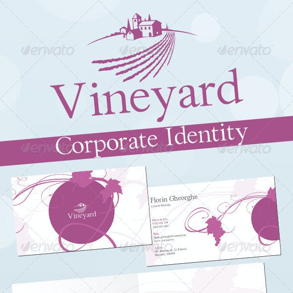 Dessert Wine Vineyard Corporate Identity