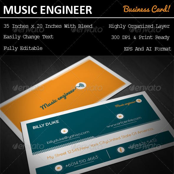 Music Engineer Business Card