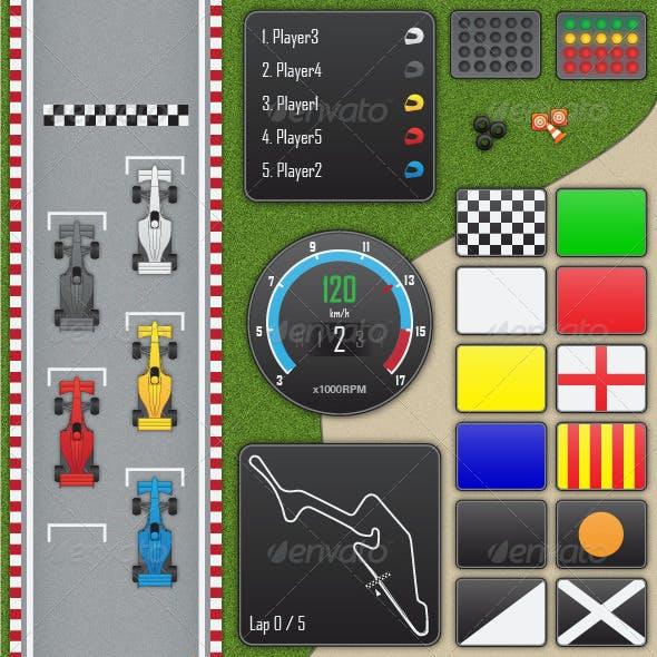 Arcade Racing Tileset & GUI Pack