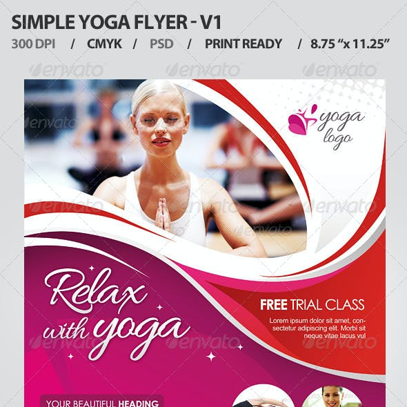 Simple Yoga Flyer V1