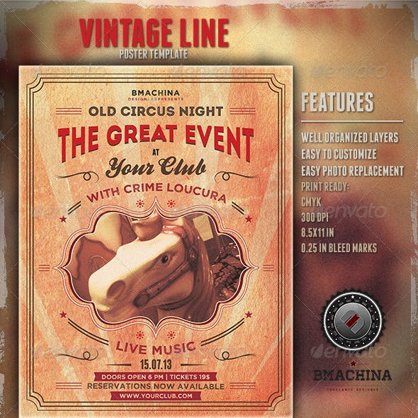 Old Circus Style - Poster Template