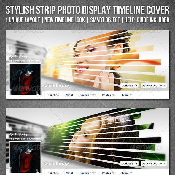Stylish Strip Photo Display Facebook Timeline Cover