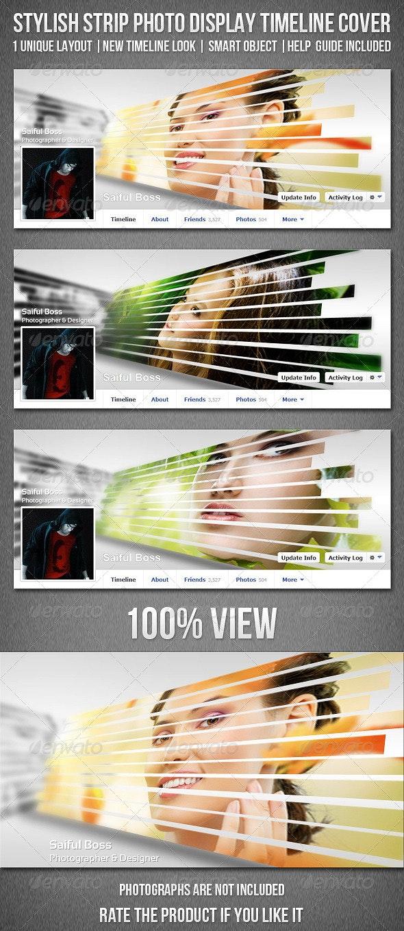 Stylish Strip Photo Display Facebook Timeline Cover - Facebook Timeline Covers Social Media
