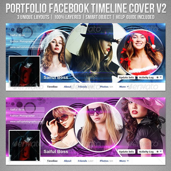 Portfolio Facebook Timeline Cover V2