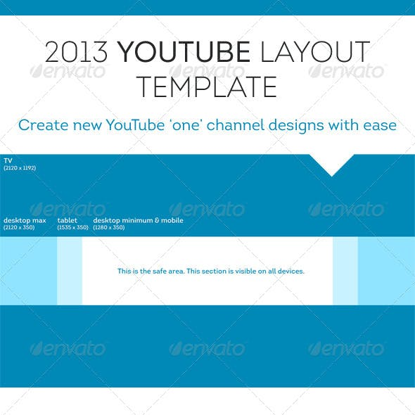 2013 YouTube 'One' Channel Layout Design Template
