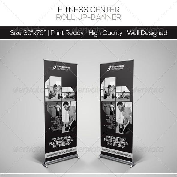Fitness Center Roll-up Banner