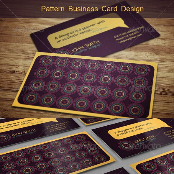 Geometrical Pattern Business Card Design