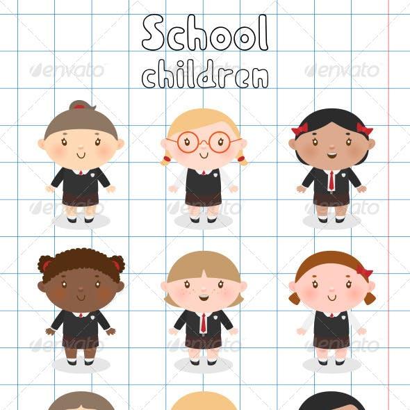 Multi-Ethnic School Children