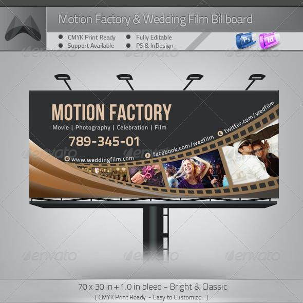 Motion Factory & Wedding Film Billboard