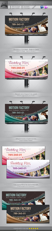 Motion Factory & Wedding Film Billboard - Signage Print Templates