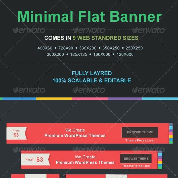 9 Minimal Flat Banners