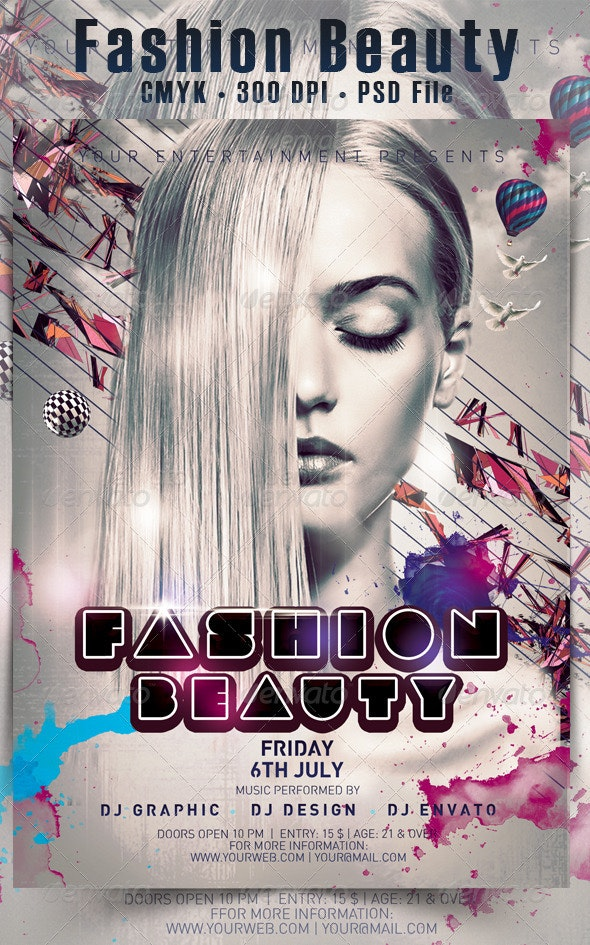 Fashion Beauty Flyer - Events Flyers