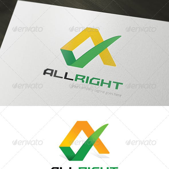 All Right Logo Template