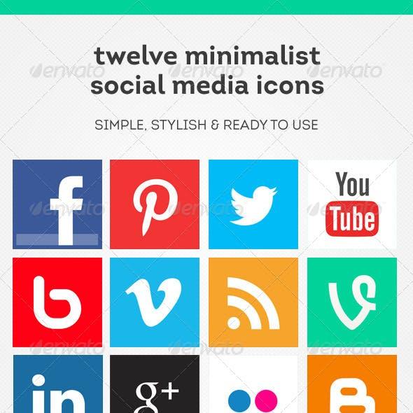 12 Minimalist Social Media Icons