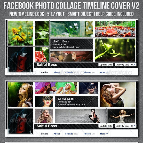 Facebook Photo Collage Timeline Cover V2