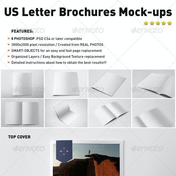 Photorealistic US Letter Brochure Mock-Ups