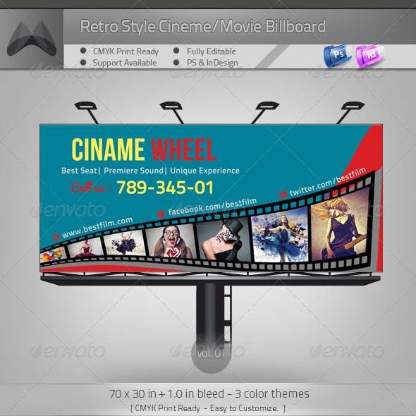 Retro Cinema/Theater Billboard