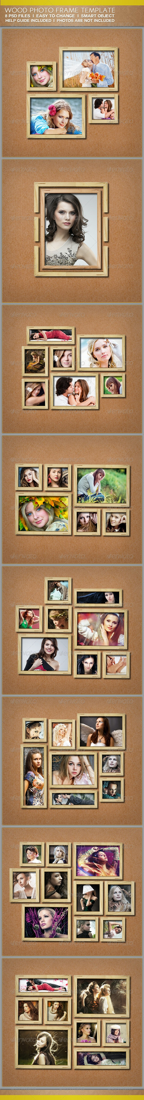 Wood Photo Frame Templates - Miscellaneous Photo Templates