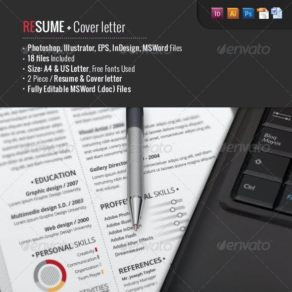 2-Piece Pro Resume + Cover Letter