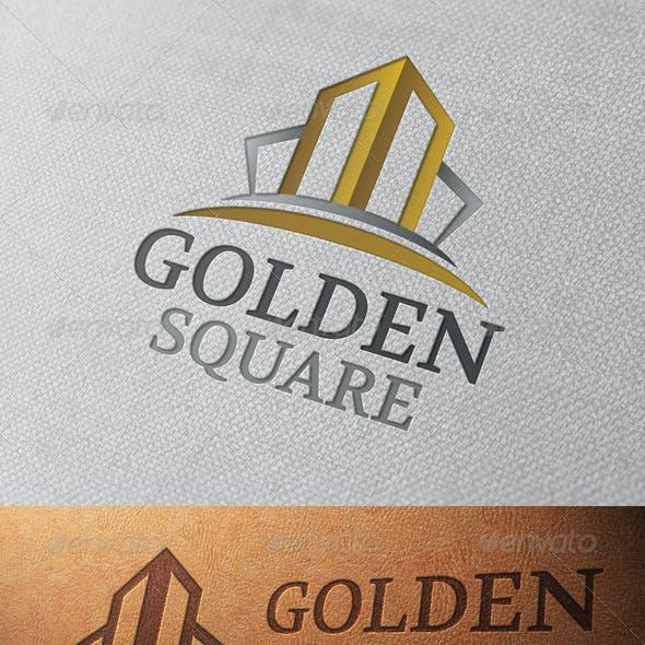 Golden Square Logo Template