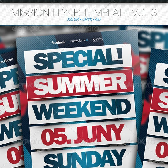 Mission Flyer Template Vol.3