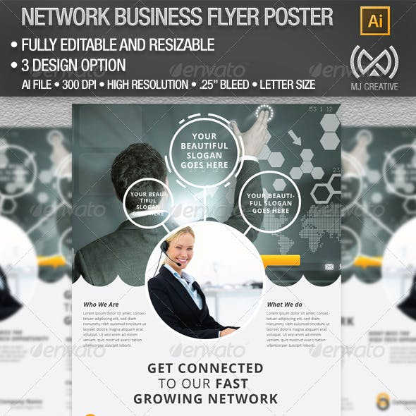 Network Business Flyer Poster