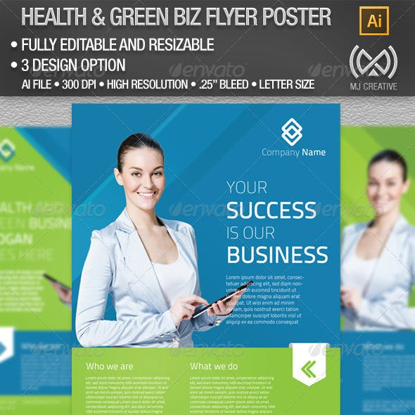 All Purpose Health & Green Business Flyer