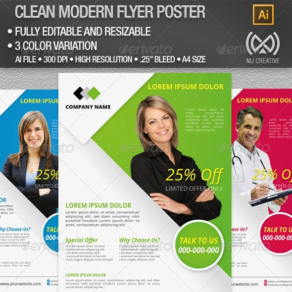 Clean Corporate Flyer & Poster