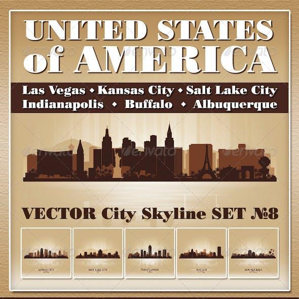 Vector City Skyline USA Set Number 8