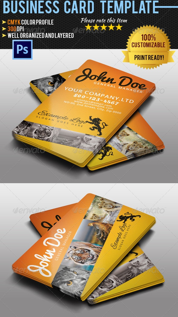 Adventure Travel Business Card 2 - Industry Specific Business Cards