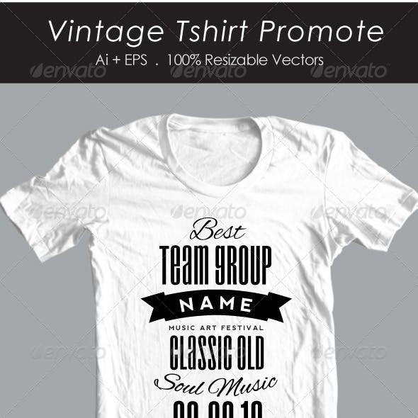 Vintage Promote Tshirt