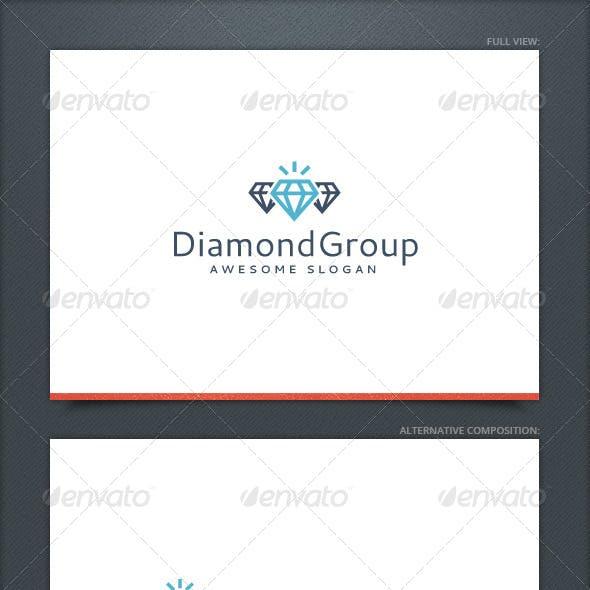 Diamond Group Logo Template