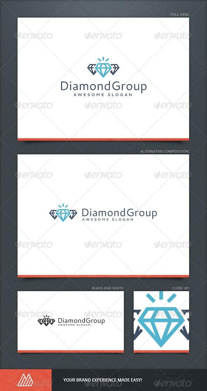 Diamond Group Logo Template - Objects Logo Templates