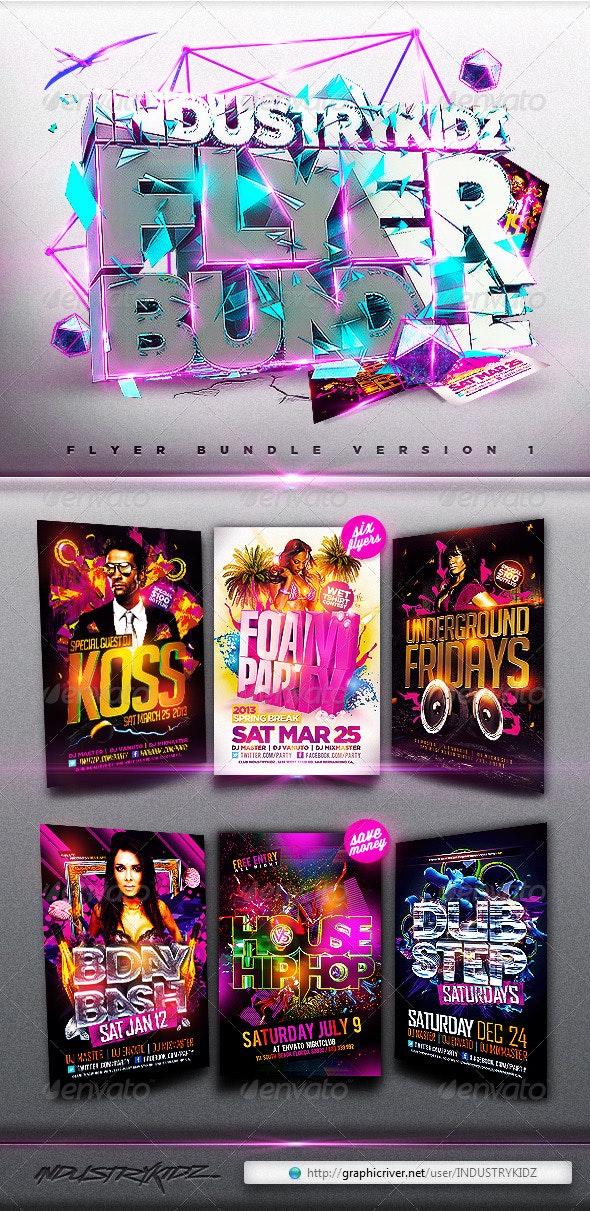 Flyer Bundle v1 - Clubs & Parties Events