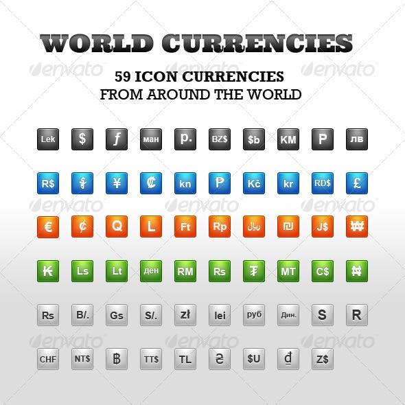 World Currencies Icon Set
