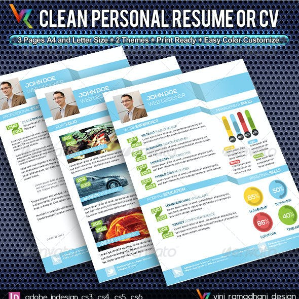 Clean Resume And CV