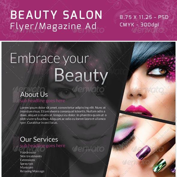 Classy Salon Flyer/ Magazine Ad
