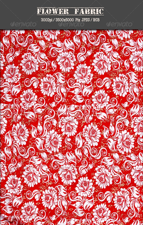 Flower Fabric 11 - Fabric Textures