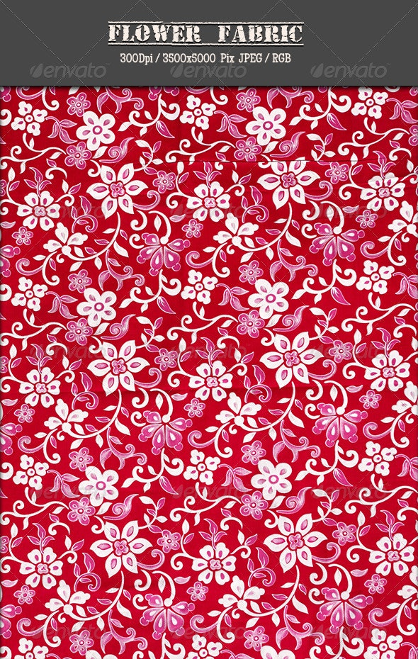 Flower Fabric 12 - Fabric Textures