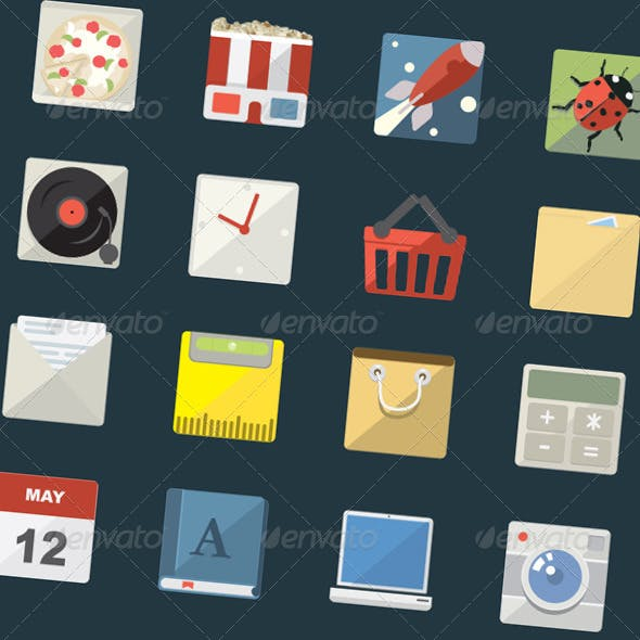 24 Flat Icons Pack