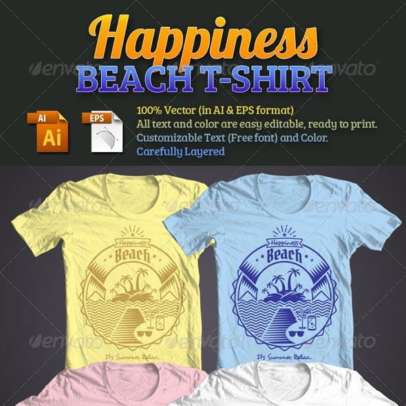 Happiness Beach T-Shirt