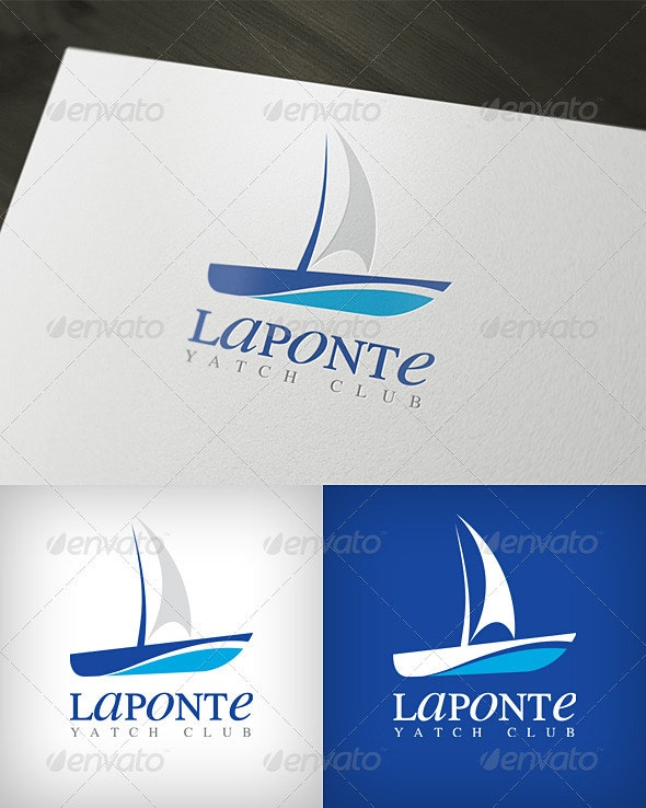 Laponte Yatch Club Logo - Objects Logo Templates