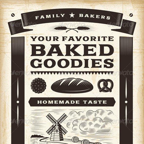Vintage Bakery Poster