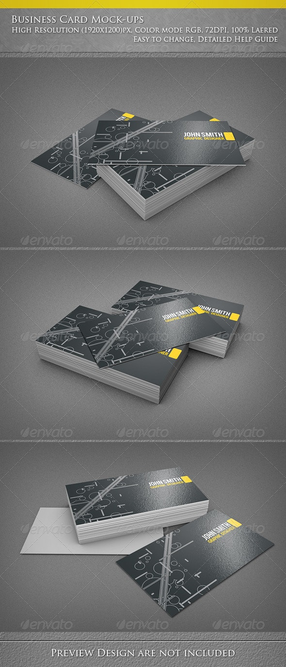 Business Card Mock-ups - Business Cards Print