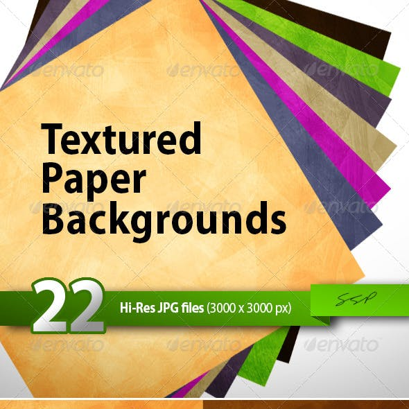 22 Hi-Res Paper Texture Backgrounds