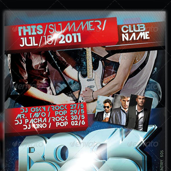 Rock Pop Flyer