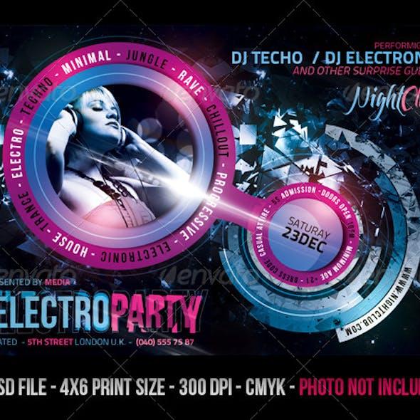 Electro Night Club Party Flyer
